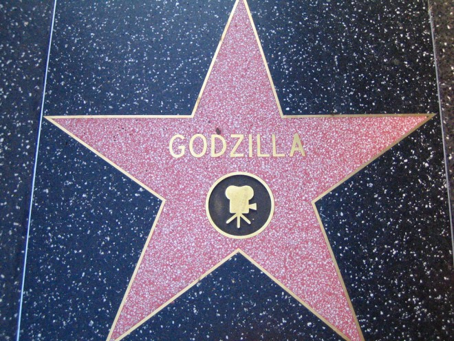 hollywood godzilla plaque