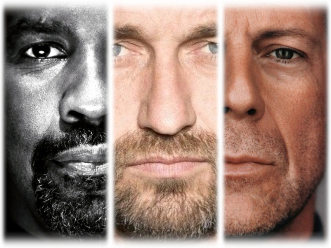 gerald butler denzel washington and bruce willis