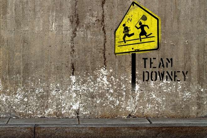 team downey poster