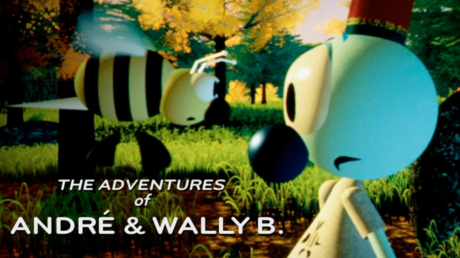 the adventures of andre and wally b poster