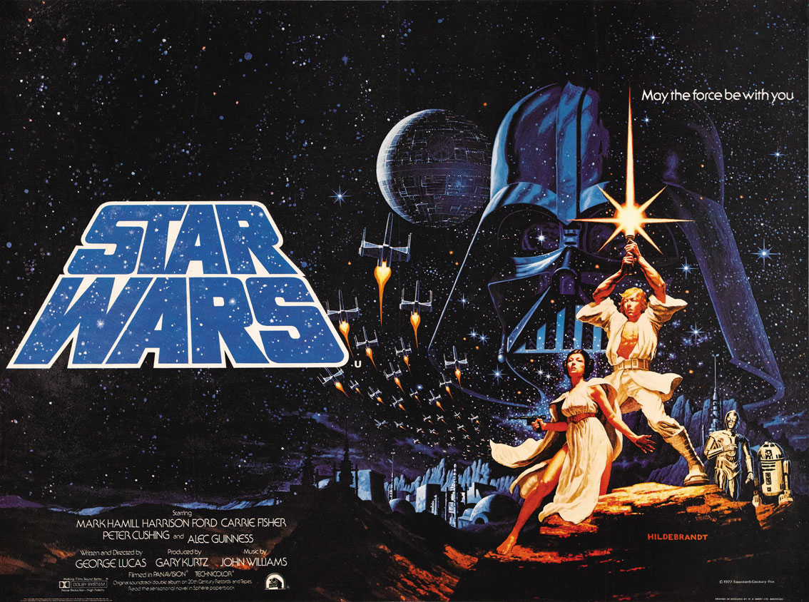 star wars episode 4 advance poster
